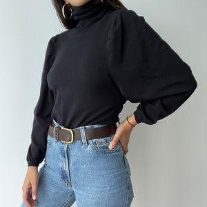 Zoe D turtleneck puff sleeve knit sweater